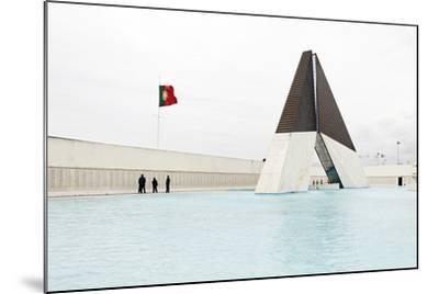 Monumento Aos Combatentes Da Guerra Do Ultramar, Belem War Monument, Guard, Belem District, Lisbon-Axel Schmies-Mounted Photographic Print