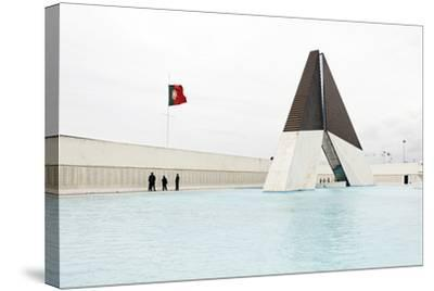 Monumento Aos Combatentes Da Guerra Do Ultramar, Belem War Monument, Guard, Belem District, Lisbon-Axel Schmies-Stretched Canvas Print