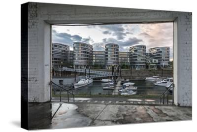 Duisburg, North Rhine-Westphalia, Germany, Five Boats Office Building in the Duisburg Inner Harbour-Bernd Wittelsbach-Stretched Canvas Print
