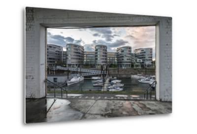 Duisburg, North Rhine-Westphalia, Germany, Five Boats Office Building in the Duisburg Inner Harbour-Bernd Wittelsbach-Metal Print