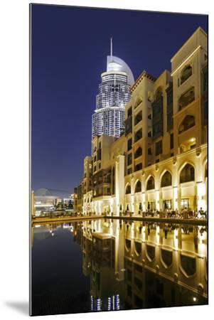 Five-Star Hotel the Address, Souk Al Bahar, Downtown Dubai, Dubai, United Arab Emirates-Axel Schmies-Mounted Photographic Print
