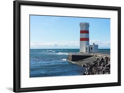 Peninsula Reykjanes, Iceland, Gardskagi, Lighthouse-Catharina Lux-Framed Photographic Print