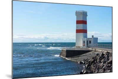 Peninsula Reykjanes, Iceland, Gardskagi, Lighthouse-Catharina Lux-Mounted Photographic Print