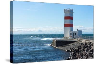 Peninsula Reykjanes, Iceland, Gardskagi, Lighthouse-Catharina Lux-Stretched Canvas Print