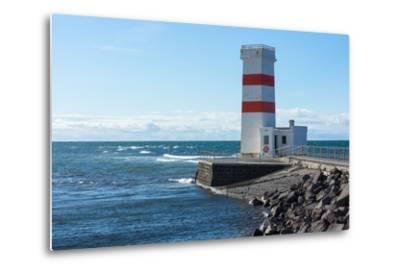 Peninsula Reykjanes, Iceland, Gardskagi, Lighthouse-Catharina Lux-Metal Print