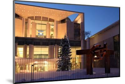 Germany, Berlin, Snow, German Chancellery, Night Photography-Catharina Lux-Mounted Photographic Print