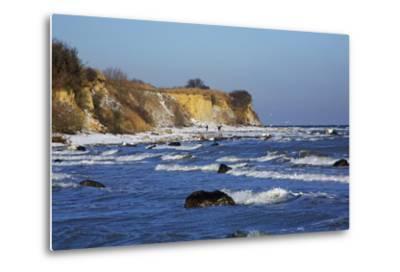 Surf at the Baltic Sea Steep Coast Near Boltenhagen-Uwe Steffens-Metal Print