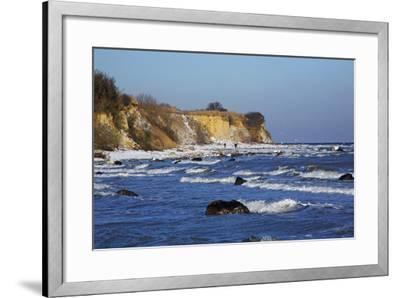 Surf at the Baltic Sea Steep Coast Near Boltenhagen-Uwe Steffens-Framed Photographic Print