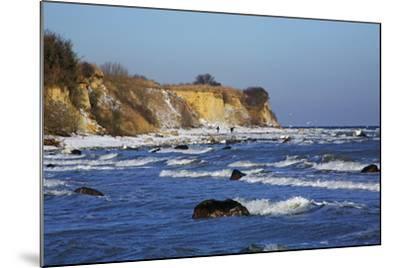 Surf at the Baltic Sea Steep Coast Near Boltenhagen-Uwe Steffens-Mounted Photographic Print