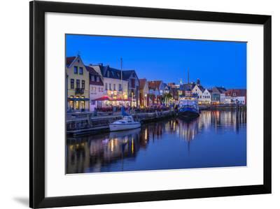 Germany, Schleswig-Holstein, North Frisia, 'Husumer Bucht' (Bay), Husum-Udo Siebig-Framed Photographic Print