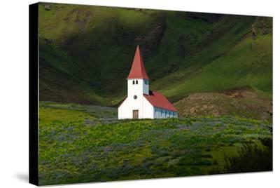 Vik, Church-Catharina Lux-Stretched Canvas Print