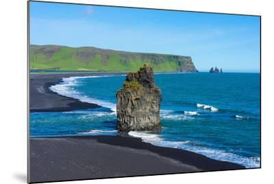 Iceland, Dyrholaey, in the Background the Pointed Rock Needles Reynisdrangar-Catharina Lux-Mounted Photographic Print