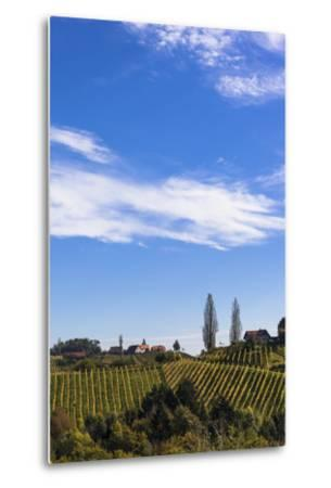 Europe, Austria, Styria, South-Styrian Wine Route, Vineyards, Houses-Gerhard Wild-Metal Print