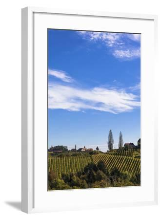 Europe, Austria, Styria, South-Styrian Wine Route, Vineyards, Houses-Gerhard Wild-Framed Photographic Print