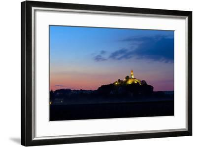 Germany, Hessen, Northern Hessen, Felsberg, Felsburg, 11. Cent., Dusk-Chris Seba-Framed Photographic Print