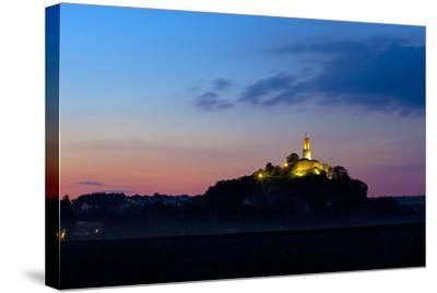 Germany, Hessen, Northern Hessen, Felsberg, Felsburg, 11. Cent., Dusk-Chris Seba-Stretched Canvas Print