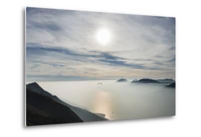 Paraglider, Aviation, Paragliding, Lake Garda, Monte Baldo-Frank Fleischmann-Metal Print
