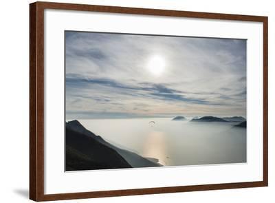 Paraglider, Aviation, Paragliding, Lake Garda, Monte Baldo-Frank Fleischmann-Framed Photographic Print