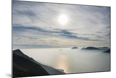 Paraglider, Aviation, Paragliding, Lake Garda, Monte Baldo-Frank Fleischmann-Mounted Photographic Print