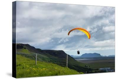 Glider at Skogafoss-Catharina Lux-Stretched Canvas Print