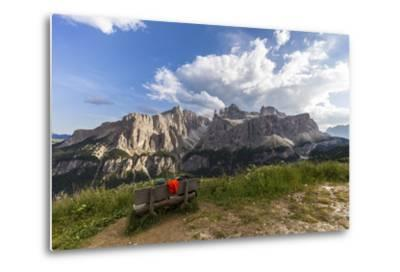 Sella Group, View from the High Route of Kolfuschg, Dolomites-Gerhard Wild-Metal Print