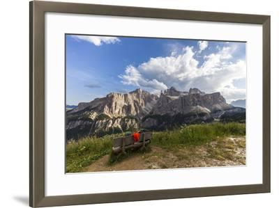 Sella Group, View from the High Route of Kolfuschg, Dolomites-Gerhard Wild-Framed Photographic Print