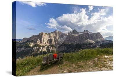 Sella Group, View from the High Route of Kolfuschg, Dolomites-Gerhard Wild-Stretched Canvas Print