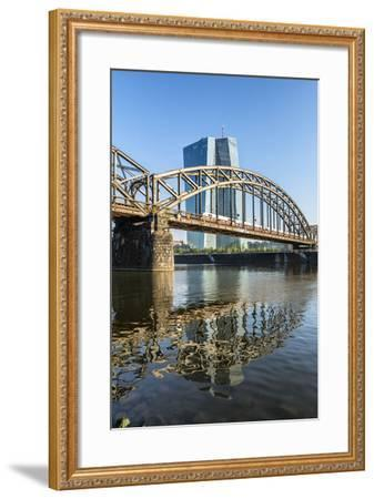 Frankfurt Am Main, Hesse, Germany, New Building of the European Central Bank with Sunrise-Bernd Wittelsbach-Framed Photographic Print