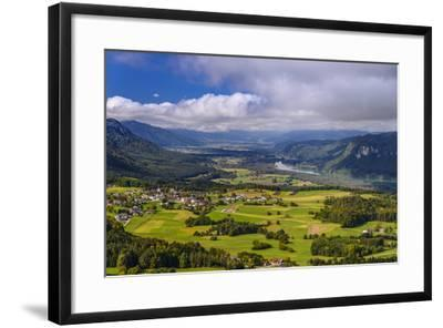 Austria, Carinthia, 'Rosental', St. Margareten Located in 'Rosental', Local View with Drau-Udo Siebig-Framed Photographic Print