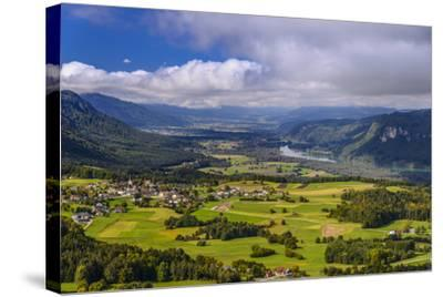 Austria, Carinthia, 'Rosental', St. Margareten Located in 'Rosental', Local View with Drau-Udo Siebig-Stretched Canvas Print