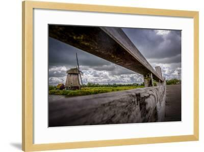 The Netherlands, Channel, Canal, Mill, Windmill-Ingo Boelter-Framed Photographic Print