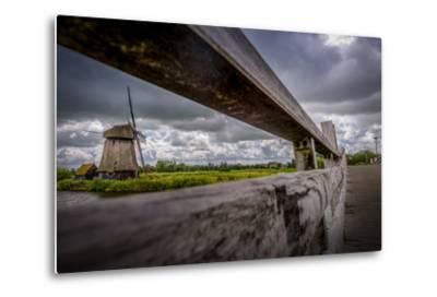 The Netherlands, Channel, Canal, Mill, Windmill-Ingo Boelter-Metal Print