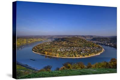 Germany, Rhineland-Palatinate, Upper Middle Rhine Valley, Boppard, Rhine Loop-Udo Siebig-Stretched Canvas Print