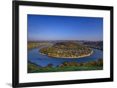 Germany, Rhineland-Palatinate, Upper Middle Rhine Valley, Boppard, Rhine Loop-Udo Siebig-Framed Photographic Print