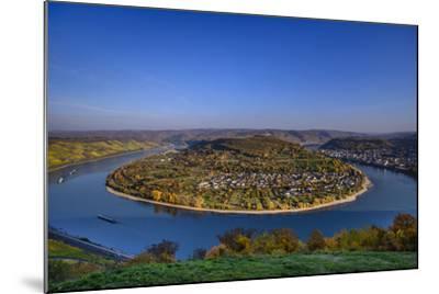 Germany, Rhineland-Palatinate, Upper Middle Rhine Valley, Boppard, Rhine Loop-Udo Siebig-Mounted Photographic Print