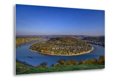Germany, Rhineland-Palatinate, Upper Middle Rhine Valley, Boppard, Rhine Loop-Udo Siebig-Metal Print