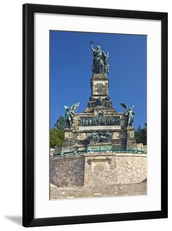 Germany, Hessen, Middle Rhine Valley, RŸdesheim, Niederwalddenkmal-Chris Seba-Framed Photographic Print