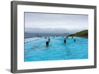 Swimming Pool in Hšfsos-Catharina Lux-Framed Photographic Print