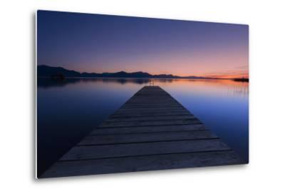 Germany, Bavaria, Lake Chiemsee, Sunset with Stšttham-Dieter Meyrl-Metal Print