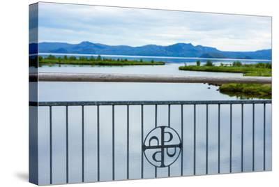 Pingvellir National Park, Bridge, Icon-Catharina Lux-Stretched Canvas Print