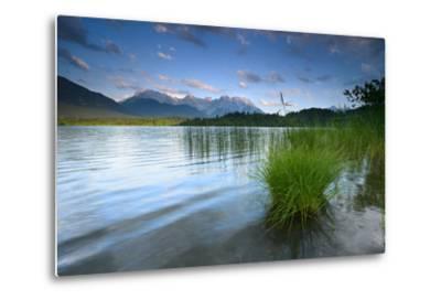Germany, Bavaria, KrŸn, Evening Mood at Barmsee (Lake), View to Karwendel Mountains-Andreas Vitting-Metal Print