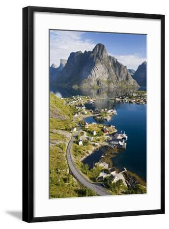 Scandinavia, Norway, Lofoten, Moskenesoey, Pure, Mountains, Fisher-Place, Supervision-Rainer Mirau-Framed Photographic Print