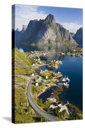 Scandinavia, Norway, Lofoten, Moskenesoey, Pure, Mountains, Fisher-Place, Supervision-Rainer Mirau-Stretched Canvas Print