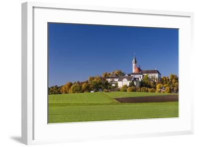 Germany, Bavaria, Upper Bavaria, 'FŸnf Seen Land' (Region), Andechs, Autumn Landscape with Andechs-Udo Siebig-Framed Photographic Print