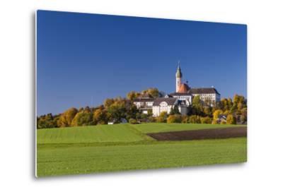 Germany, Bavaria, Upper Bavaria, 'FŸnf Seen Land' (Region), Andechs, Autumn Landscape with Andechs-Udo Siebig-Metal Print