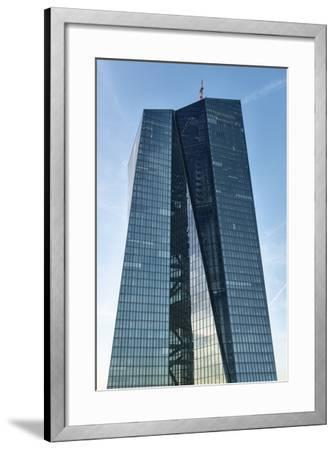 Germany, Hesse, Frankfurt on the Main, New Building of the European Central Bank-Bernd Wittelsbach-Framed Photographic Print