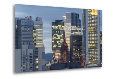 Frankfurt Financial District at Dusk-Bernd Wittelsbach-Metal Print