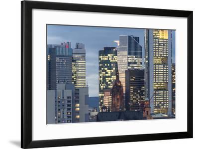 Frankfurt Financial District at Dusk-Bernd Wittelsbach-Framed Photographic Print