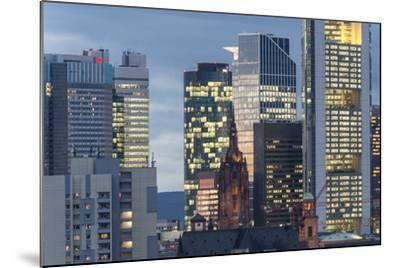 Frankfurt Financial District at Dusk-Bernd Wittelsbach-Mounted Photographic Print