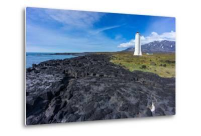 Peninsula Snaefellsnes, Lighthouse Malariff-Catharina Lux-Metal Print